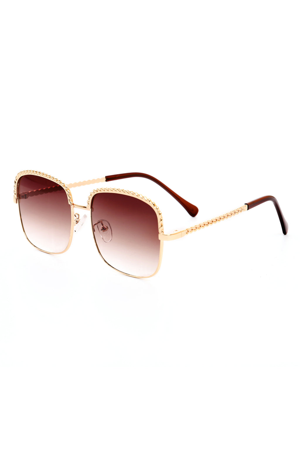 EMBELLISHED SQUARE SUNNIES -COFFEE