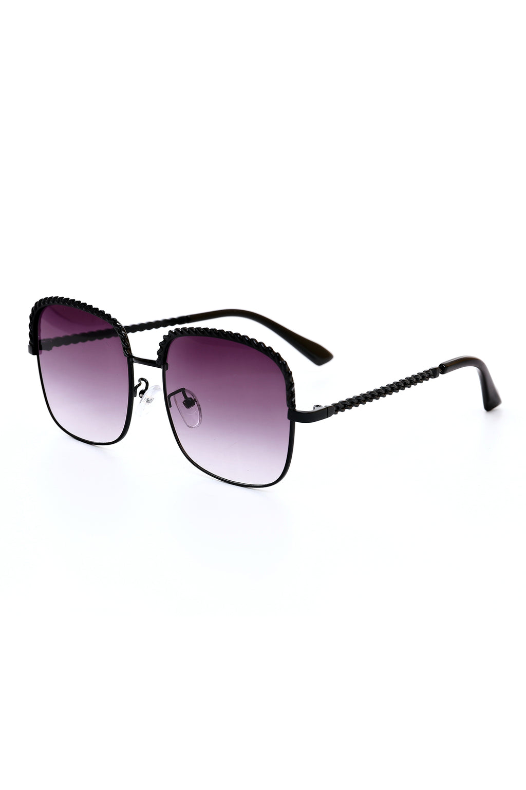 EMBELLISHED SQUARE SUNNIES -BLACK