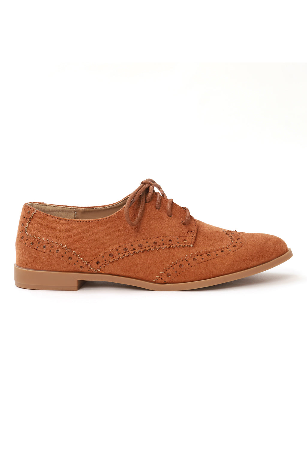BROGUE LACE UPS-CAMEL