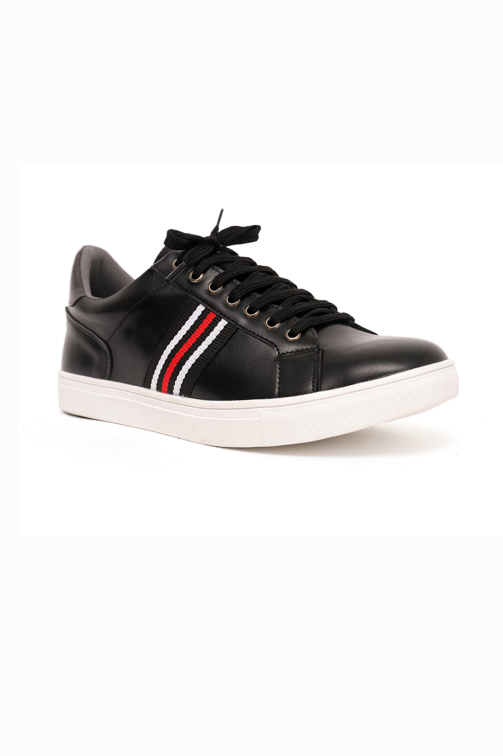 GLOSSY TRAINERS-BLACK