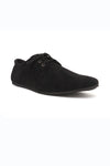 SUEDE DERBY SHOES-BLACK