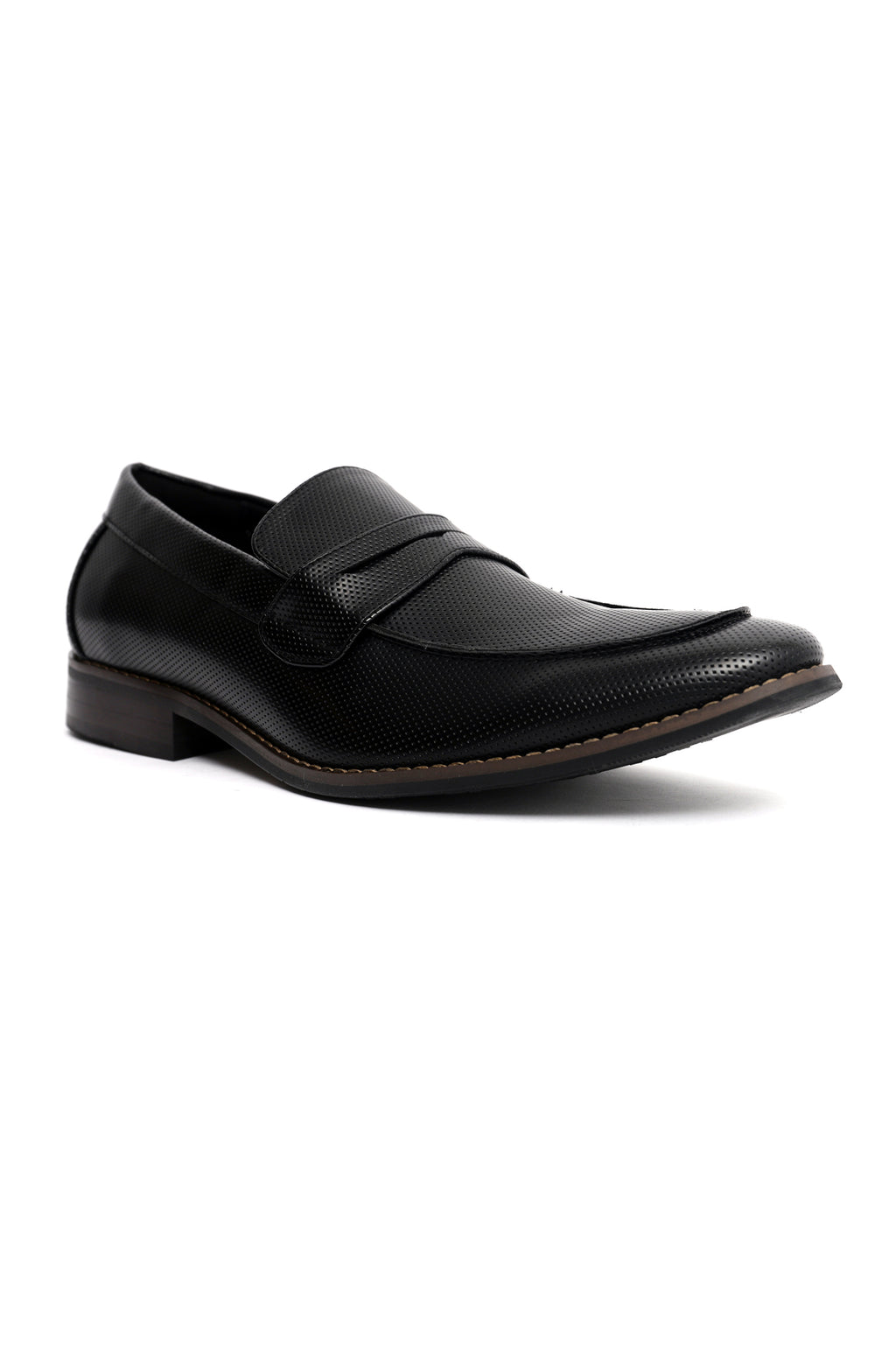 EMBOSSED PENNY LOAFERS -BLACK