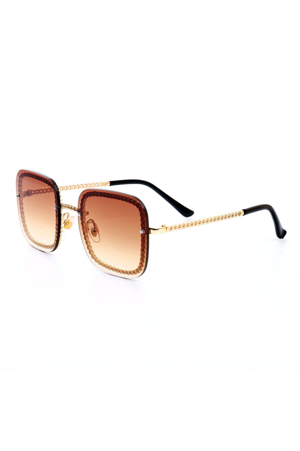 CHAIN RIM SHADES  -COFFEE