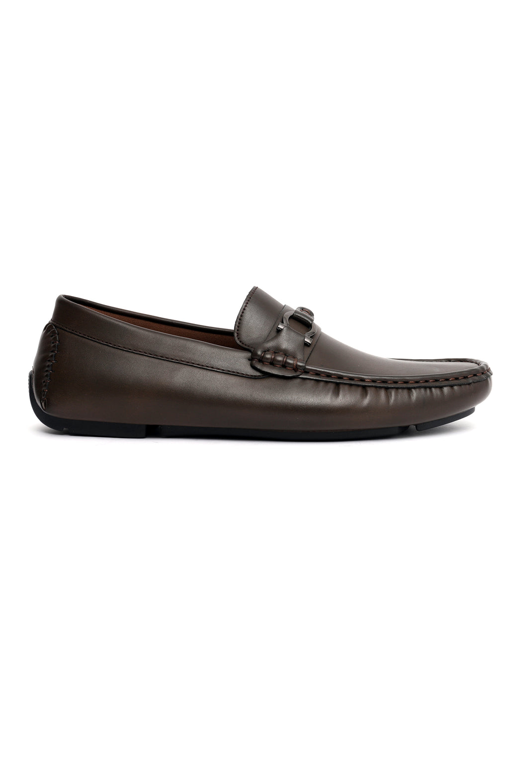 MONOGRAM LOAFERS-COFFEE