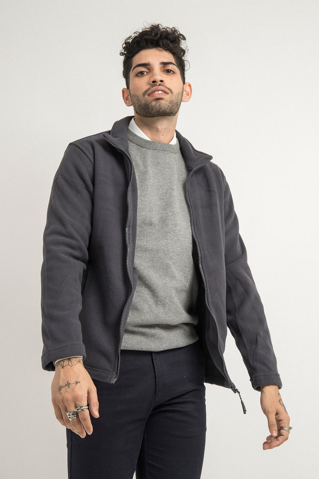 FLEECE JACKET-GREY
