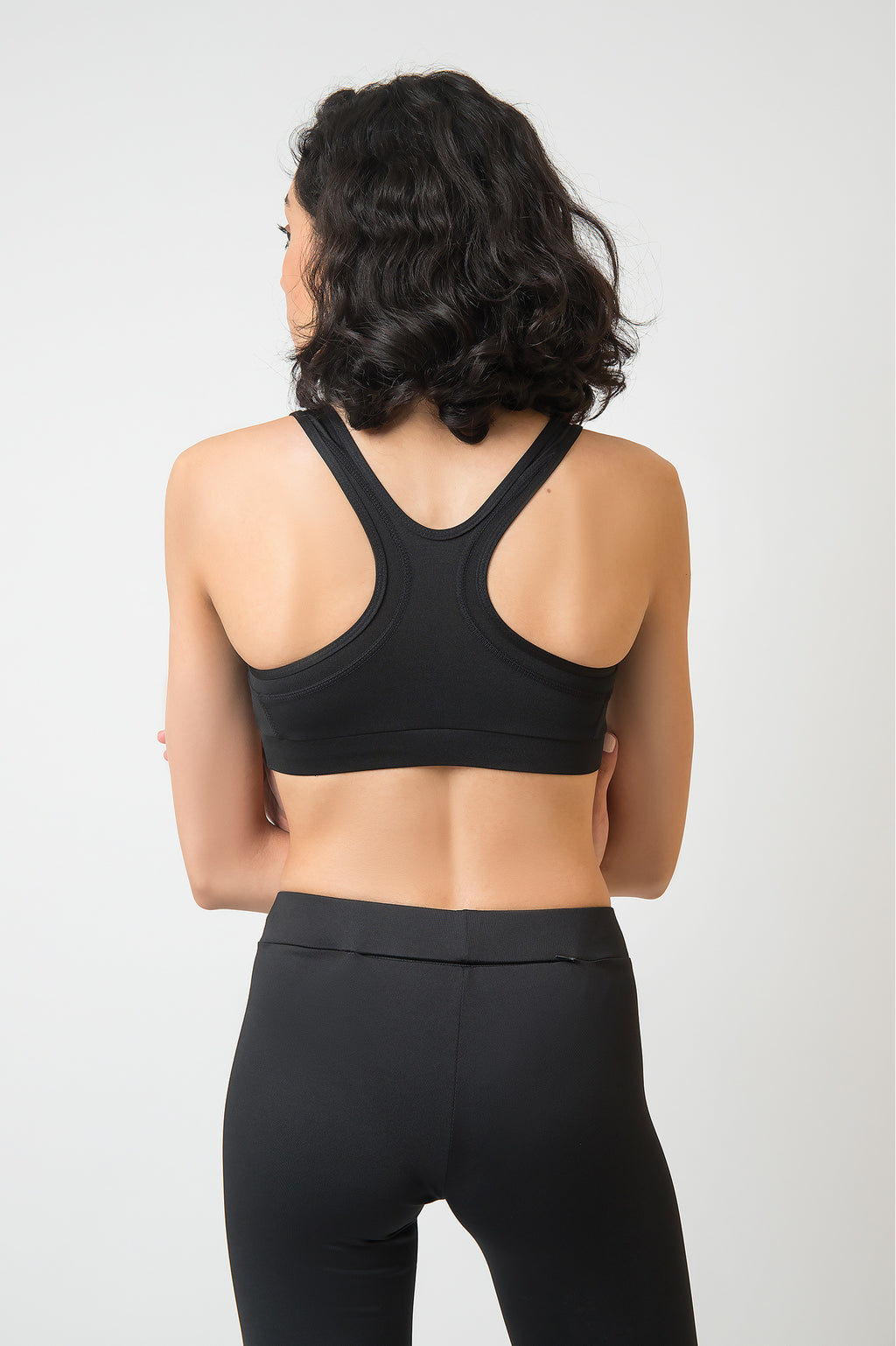 RACERBACK SPORTS BRA -BLACK