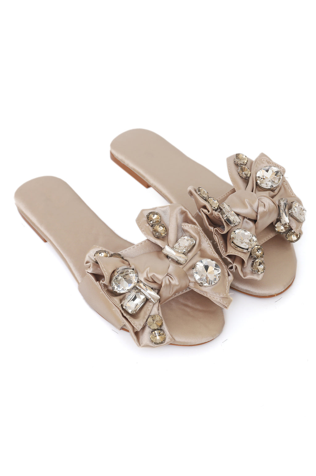 BLING BOWS -BEIGE