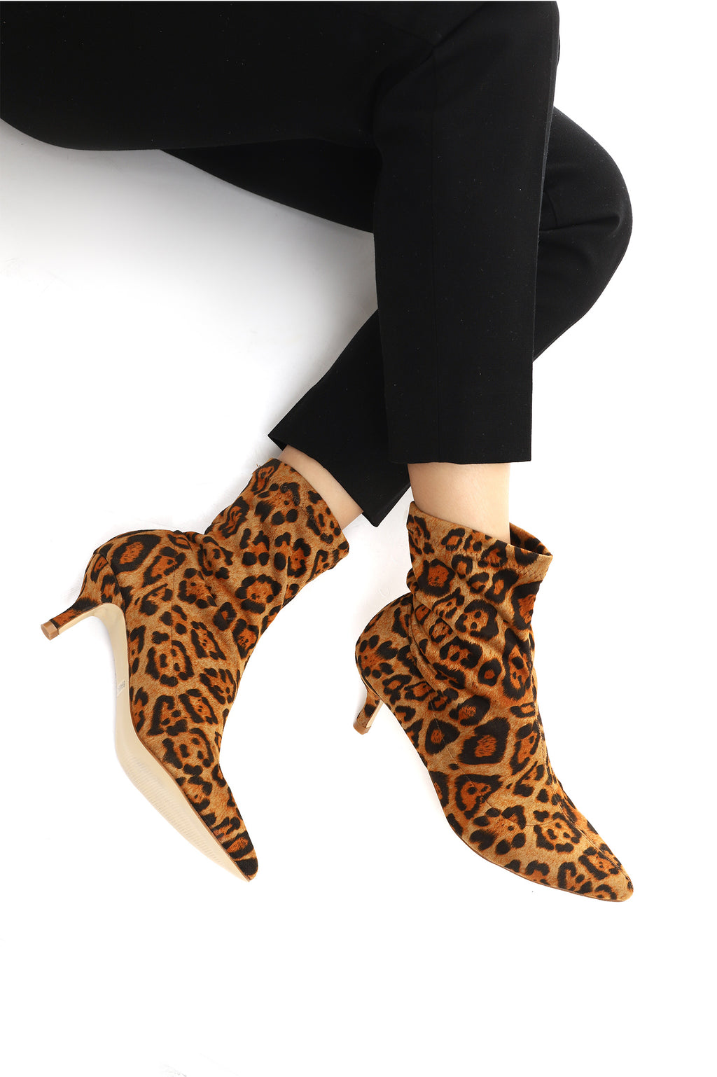 PRINTED SILHOUETTE BOOTS-LEOPARD