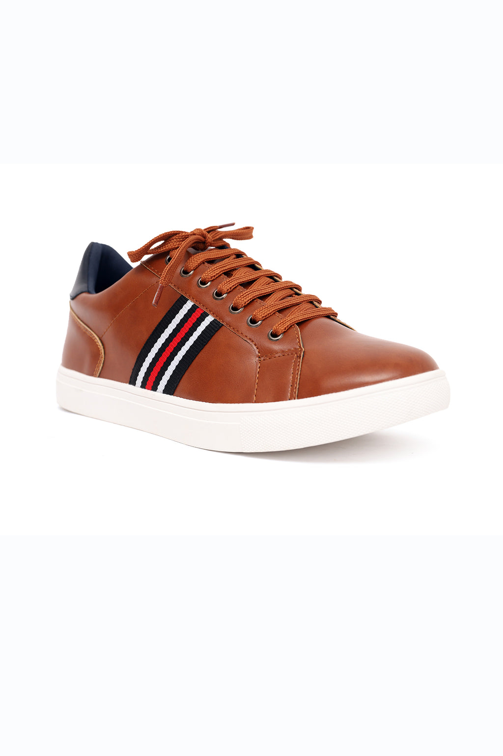 GLOSSY TRAINERS-CAMEL
