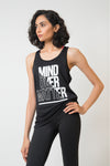 SPORTS GRAPHIC TANK-BLACK