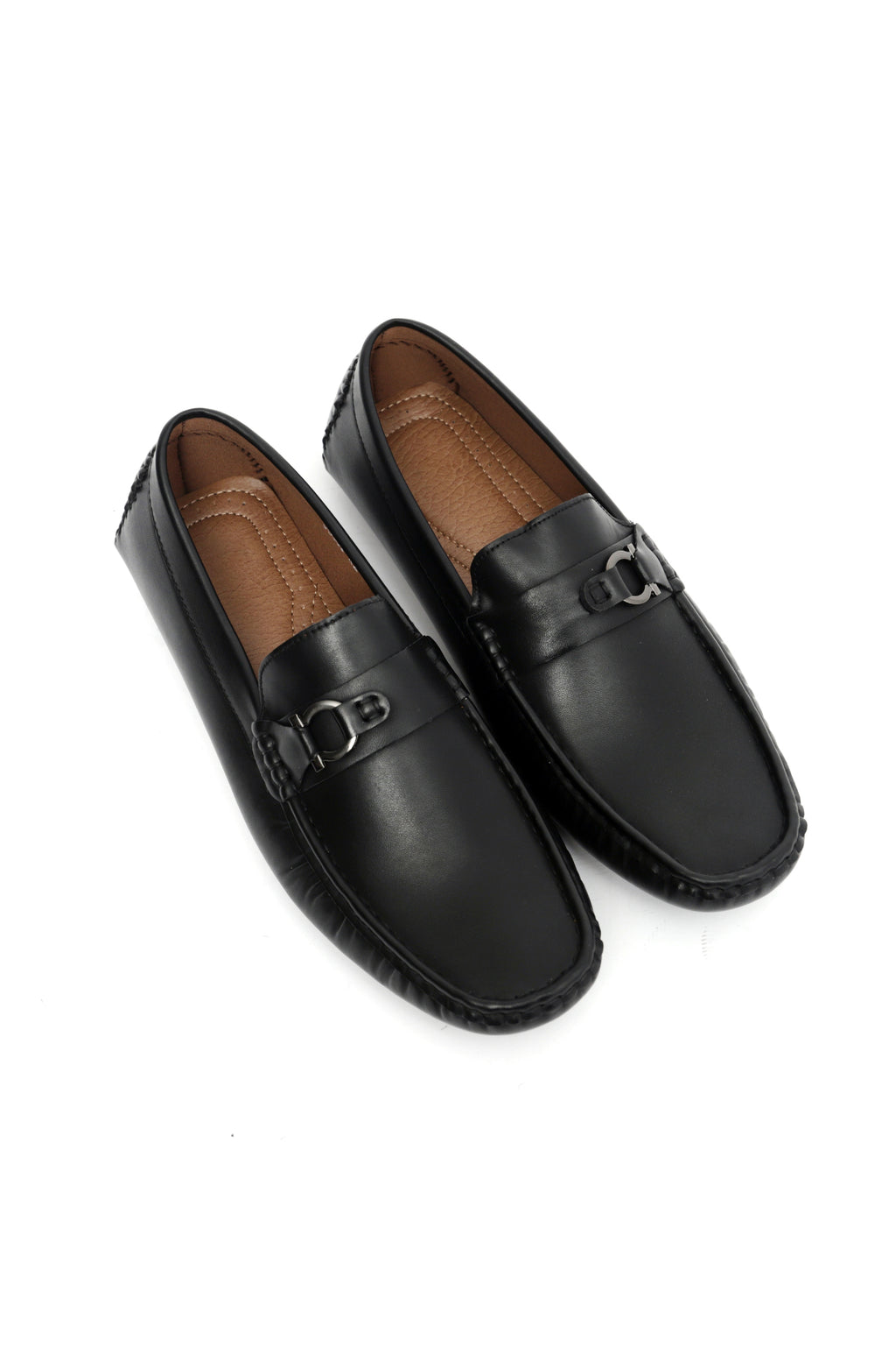 MONOGRAM LOAFERS-BLACK
