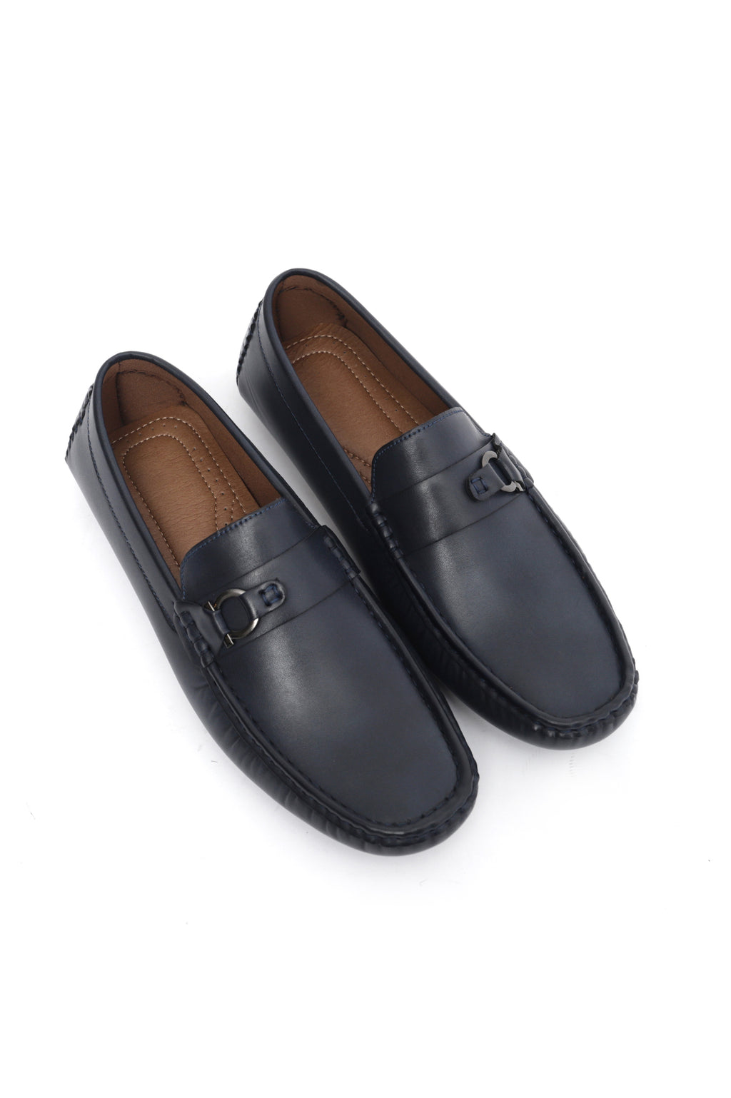 MONOGRAM LOAFERS-NAVY