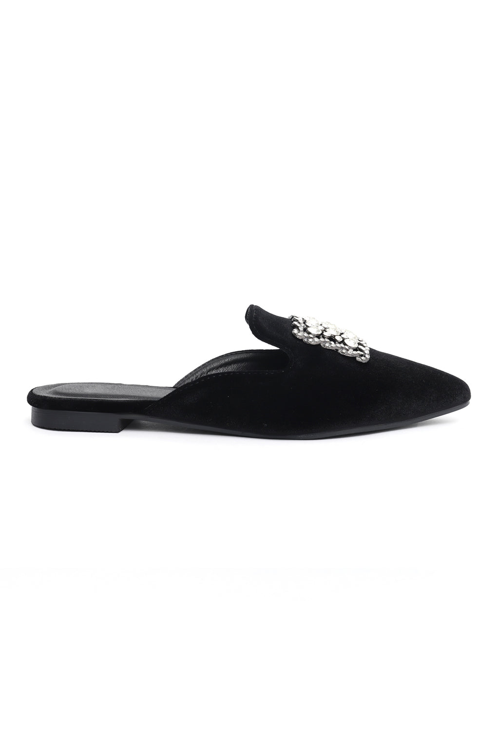 DIAMANTE MULES-BLACK