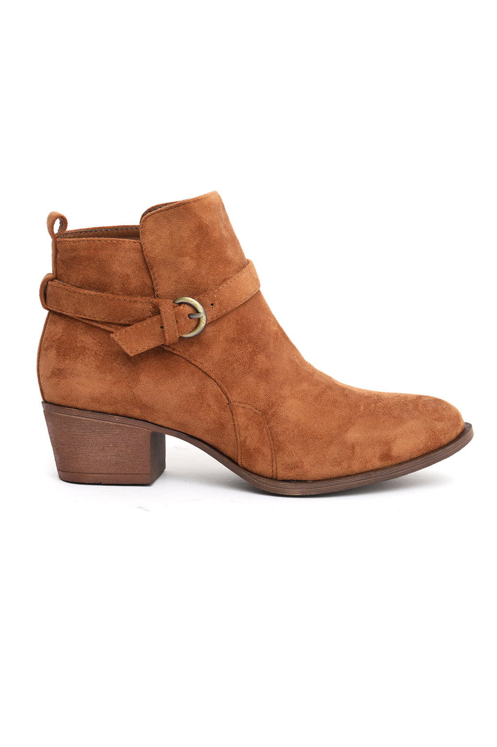 BUCKLED BOOTS-CAMEL