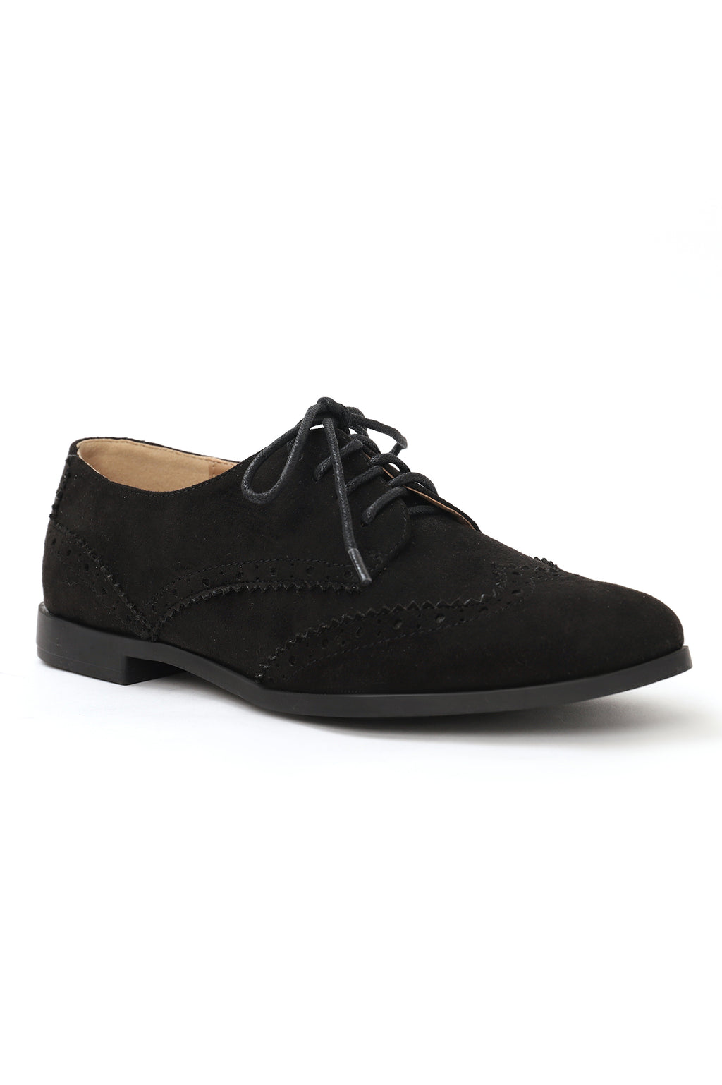BROGUE LACE UPS-BLACK