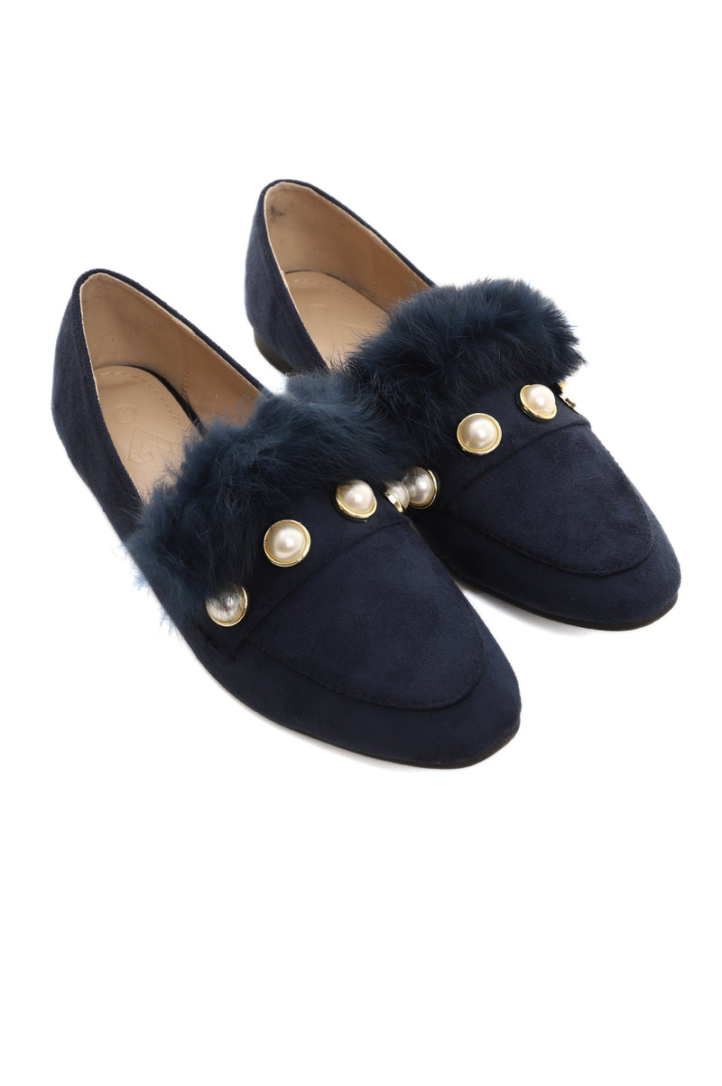 PEARLY LOAFERS-NAVY