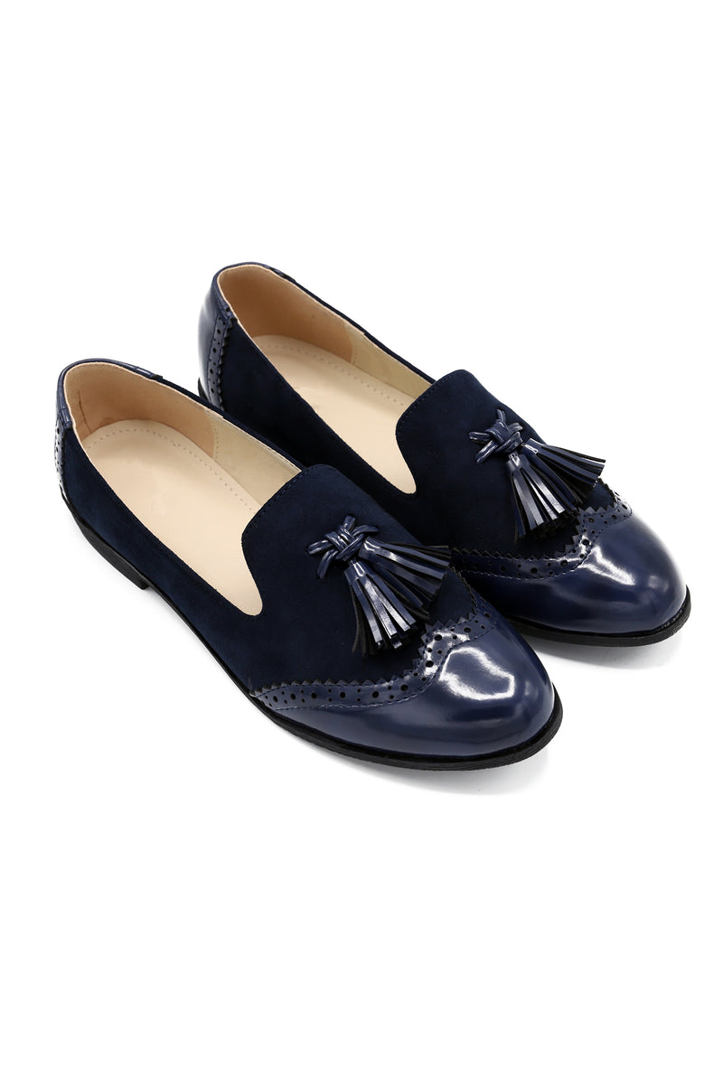 BROGUE SHOES-NAVY