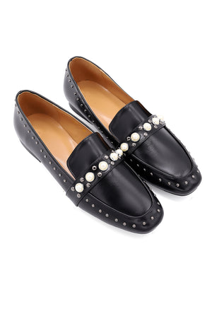 PEARLY LOAFERS -BLACK