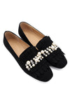 DAZZLE FRINGE SHOE-BLACK