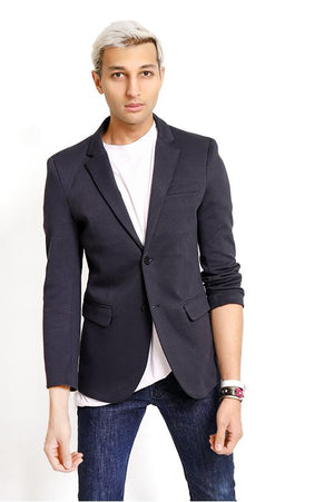 BASIC SUIT BLAZER-GREY