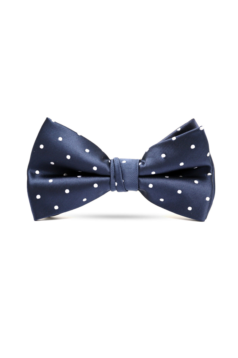 DOTTED BOW TIE-BLUE