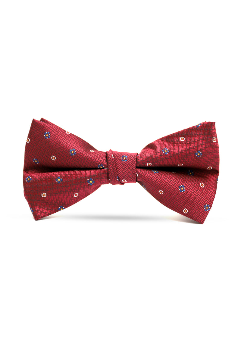DOTTED BOW TIE-MAROON