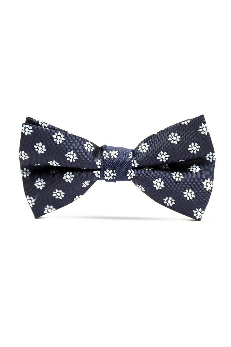 FLORAL BOW TIE-NAVY