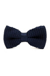 KNITTED BOW TIE-NAVY