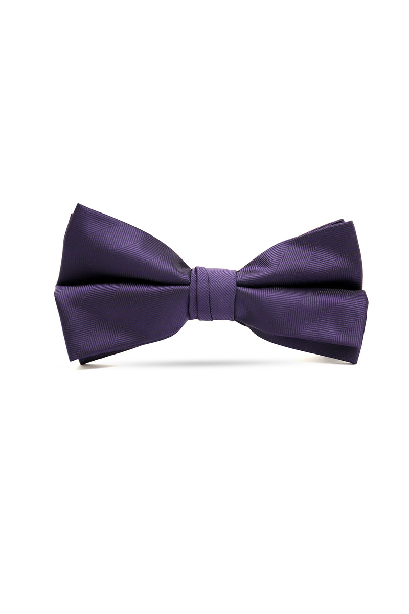 TWILL TEXTURED BOW TIE-PURPLE