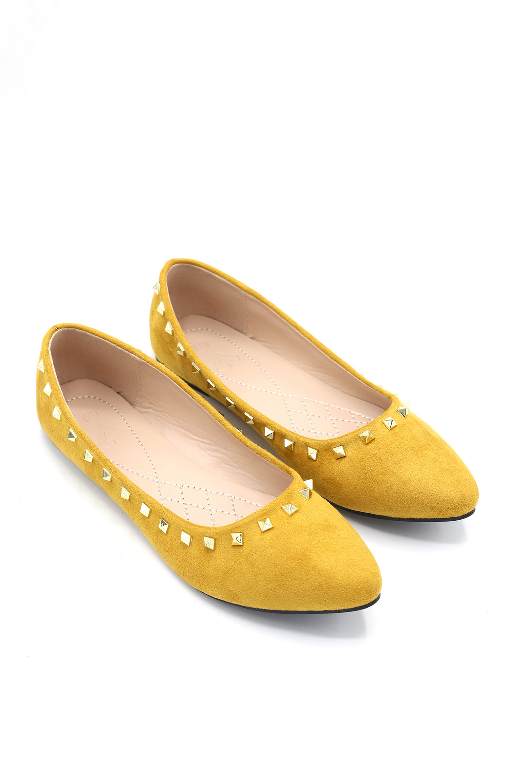 STUDDED PUMPS -YELLOW