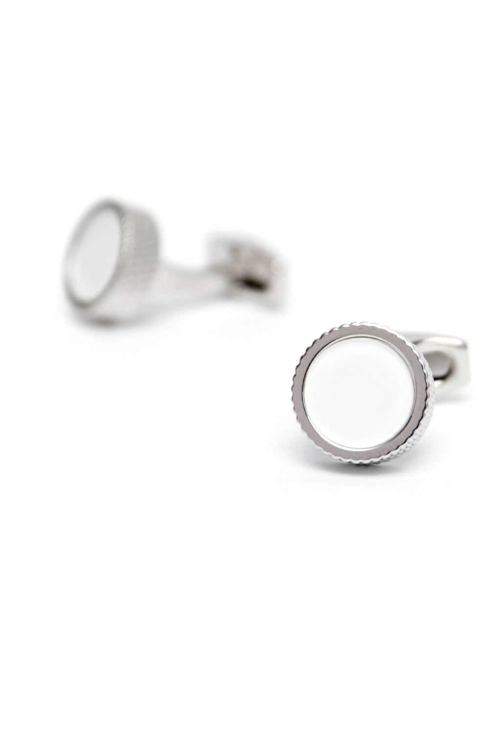 STACKED CUFFLINKS -SILVER