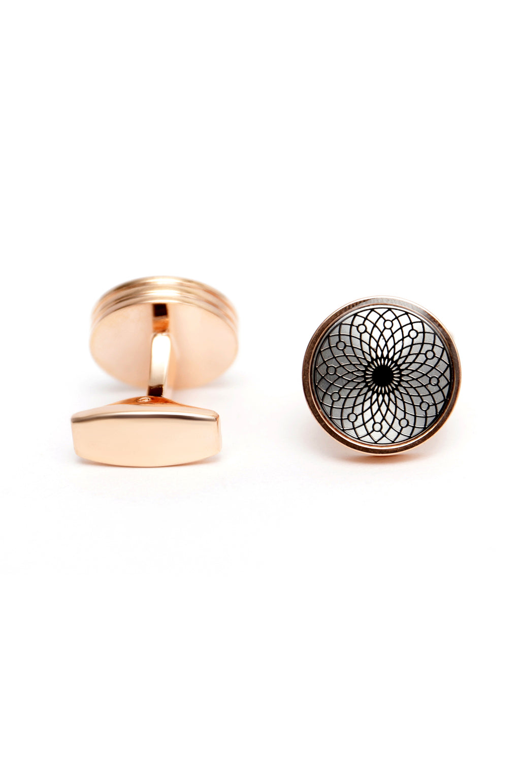ENGRAVED CUFFLINKS -ROSE-GOLD