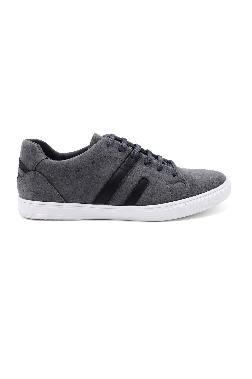 STRIPED STREET SNEAKERS-GREY AND BLACK