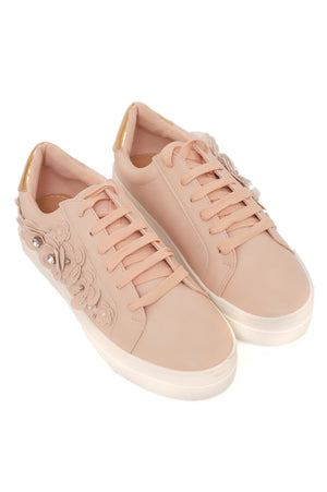 3D FLORAL SNEAKERS-PINK