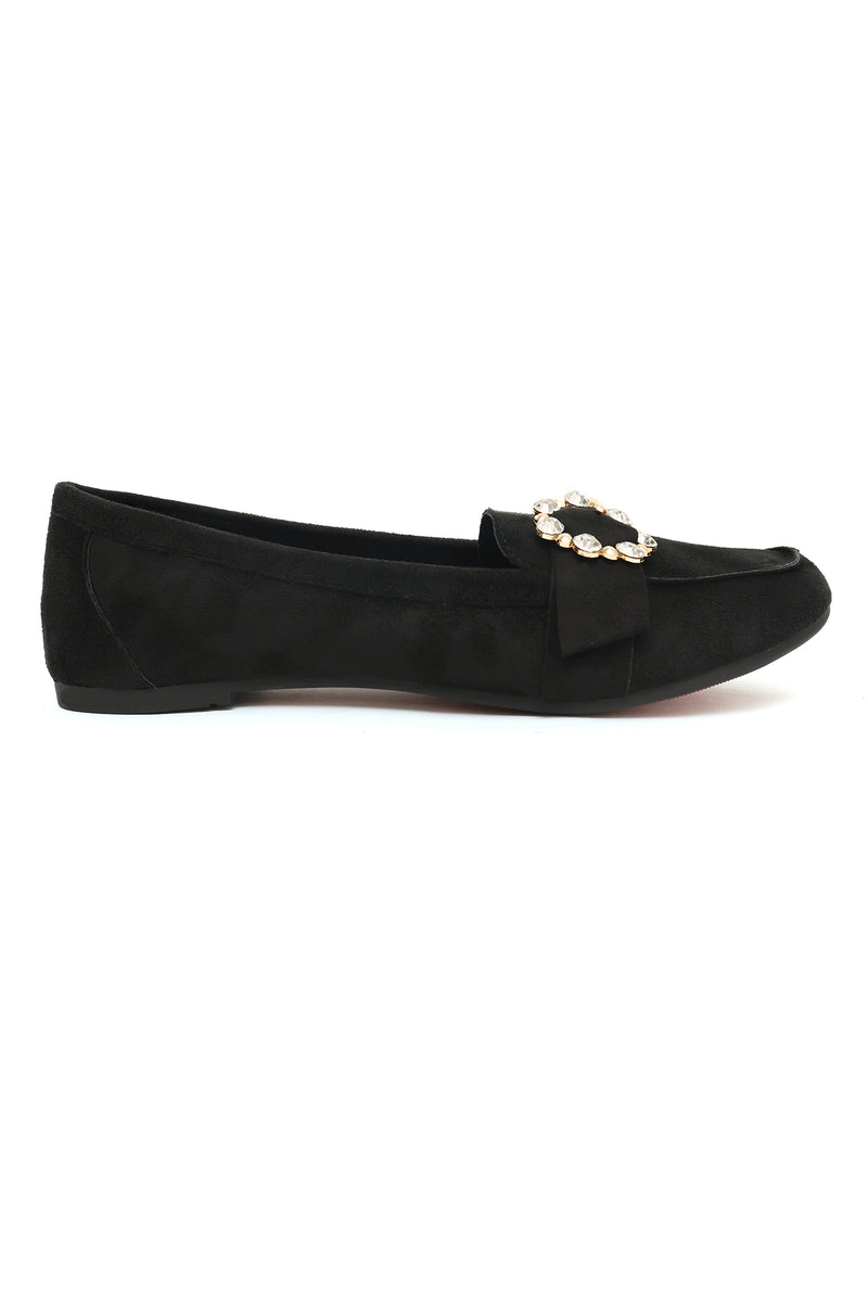 BROCHE LOAFERS -BLACK
