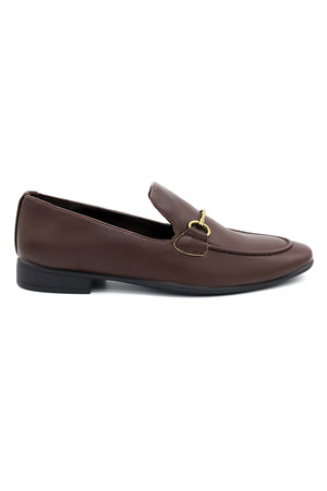 BUCKLED LOAFERS -COFFEE
