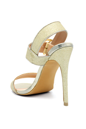 SHIMMER SLINGBACKS -GOLD