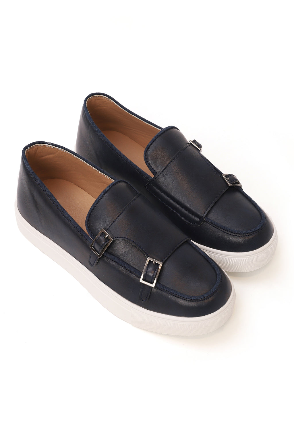 DOUBLE MONK FLATS-NAVY