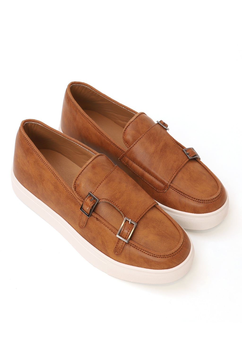 DOUBLE MONK FLATS-TAN