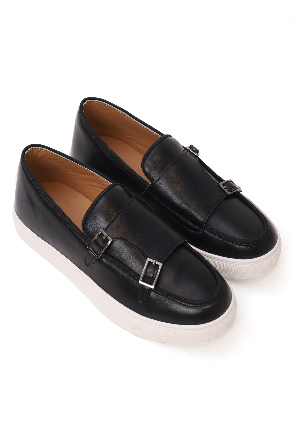 DOUBLE MONK FLATS-BLACK