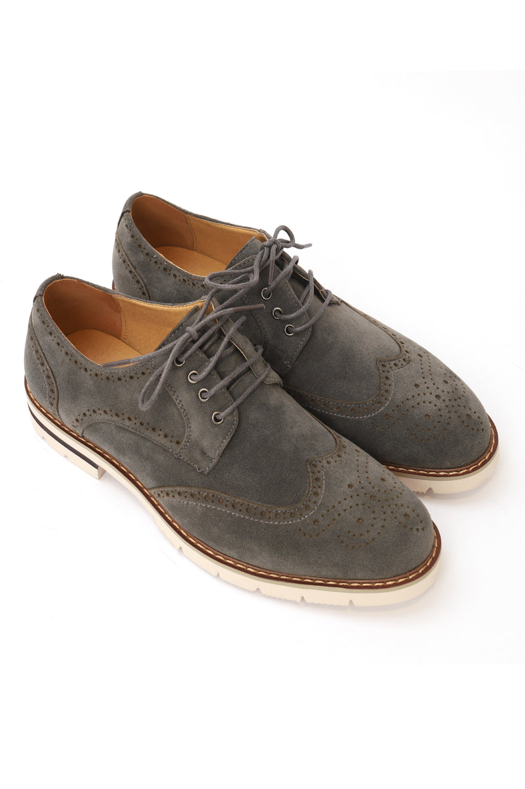 SUEDE BROGUES-GREY