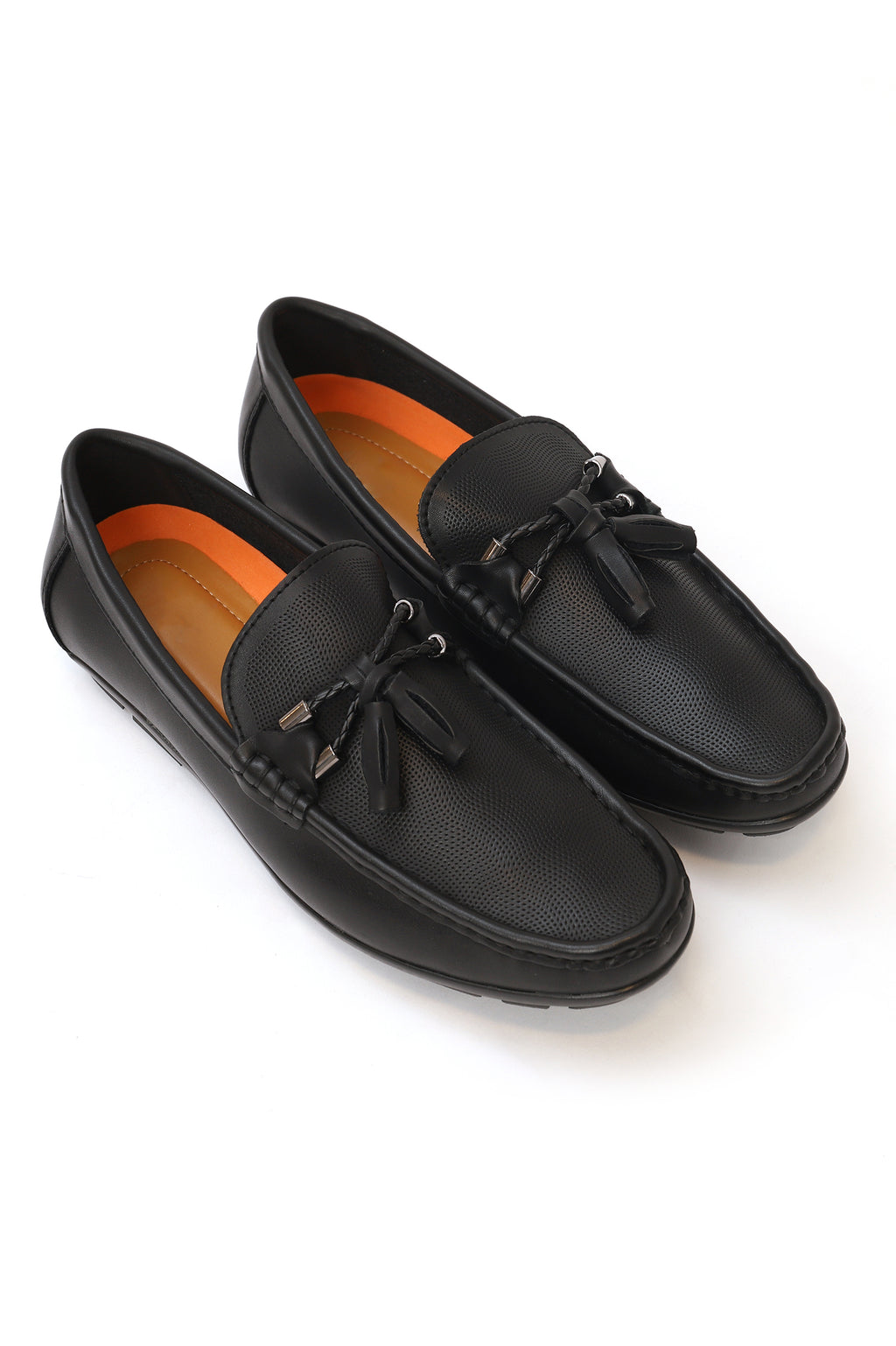 EMBOSSED LOAFERS-BLACK