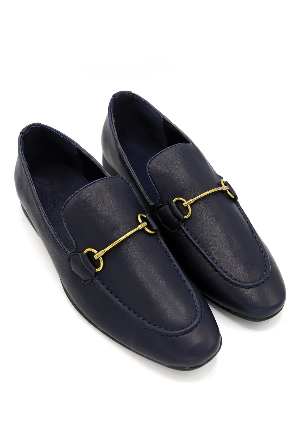 BUCKLED LOAFERS -NAVY