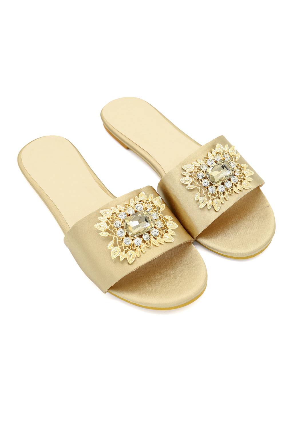 BROCHE SLIDES -BEIGE