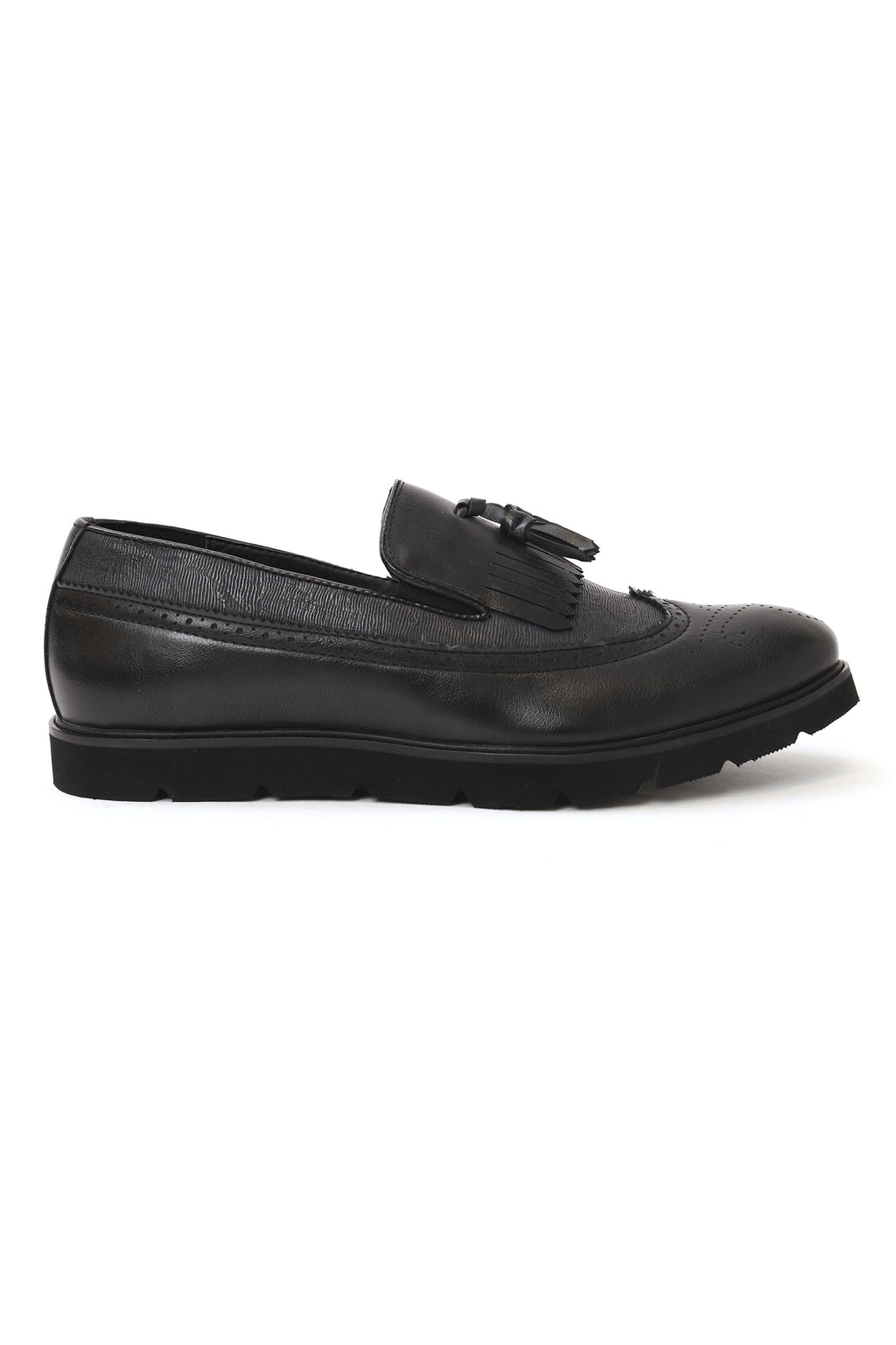 FRINGED BROGUES-BLACK