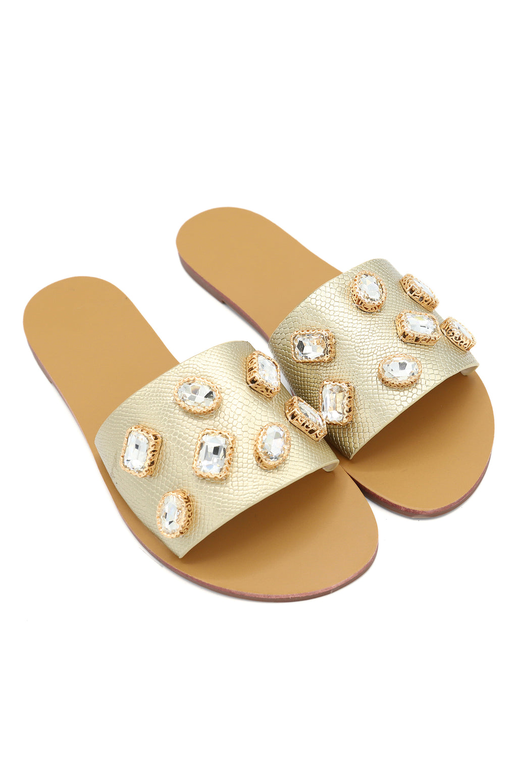 JEWEL SLIDES-GOLD