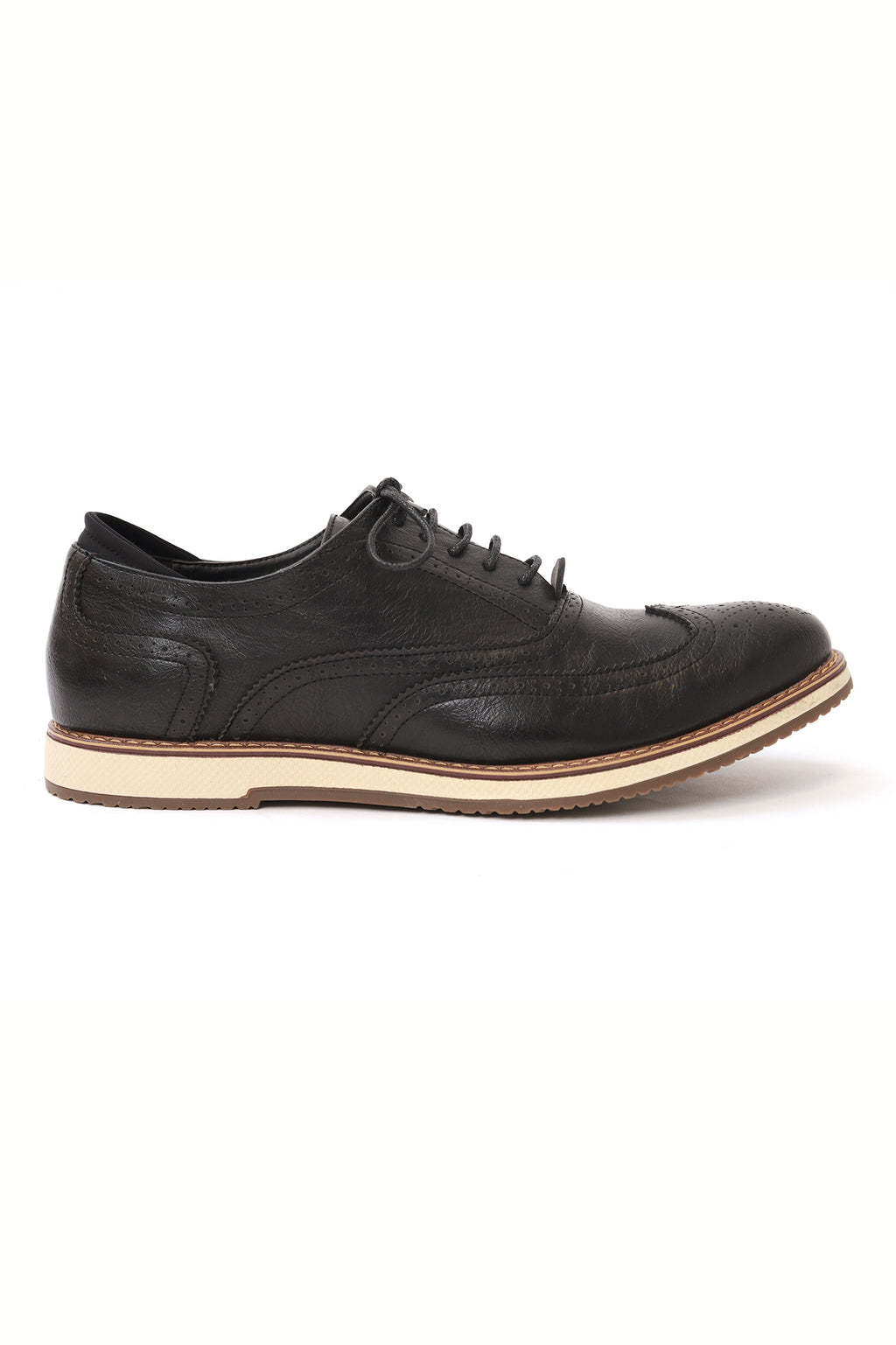 LACE UP BROGUES-BLACK