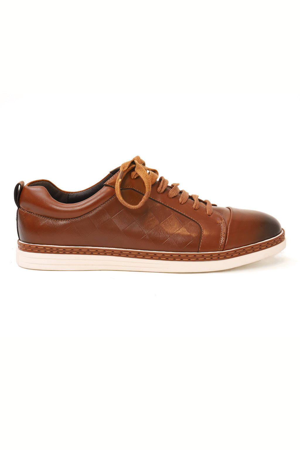 LEATHER SNEAKERS-BROWN
