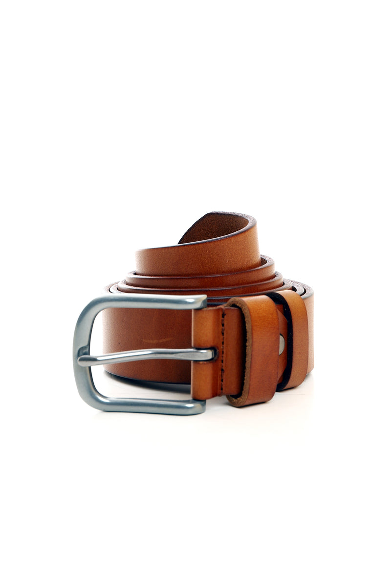 CLASSIC LEATHER BELT -TAN
