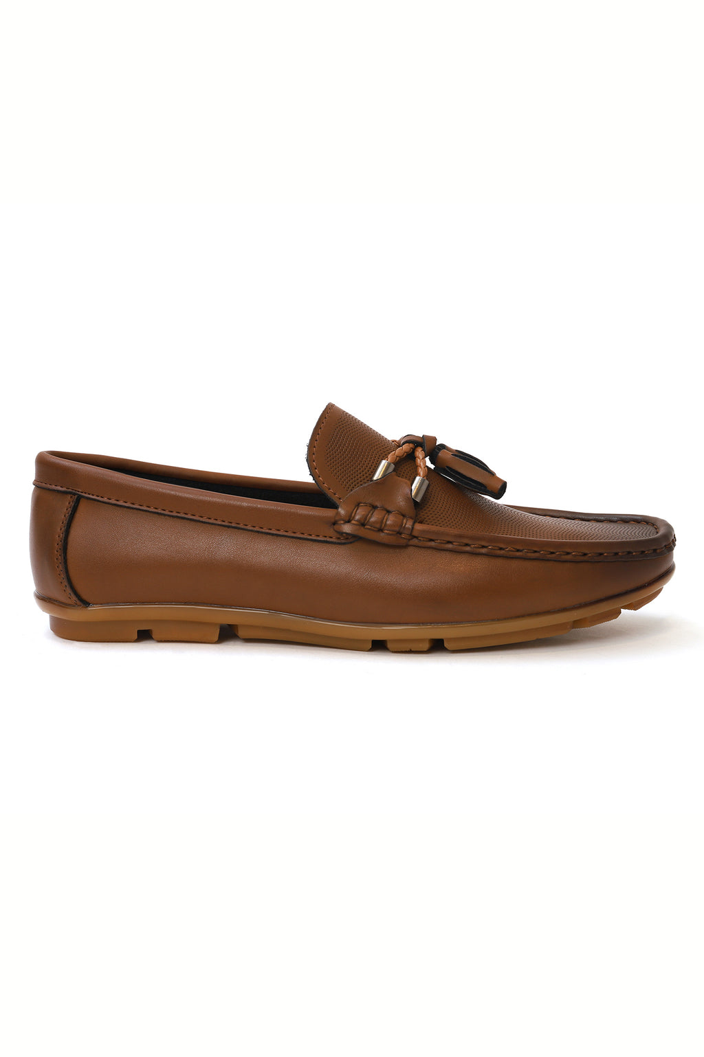 EMBOSSED LOAFERS-BROWN